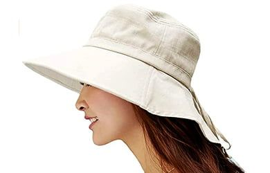 Sombrero De Mujer De ala Ancha Tapa Abatible