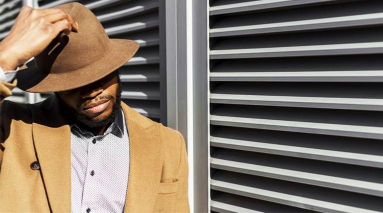 sombrero elegante hombre